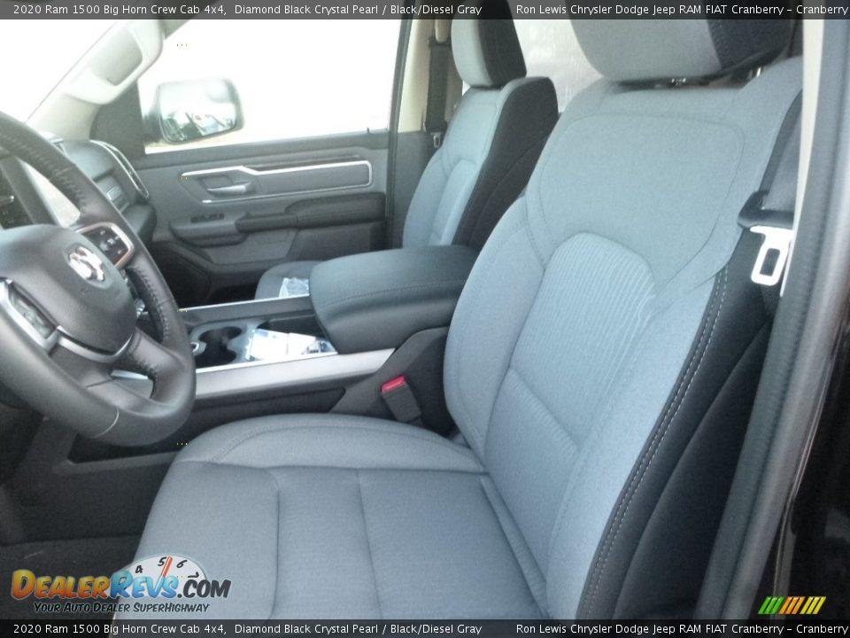 2020 Ram 1500 Big Horn Crew Cab 4x4 Diamond Black Crystal Pearl / Black/Diesel Gray Photo #14