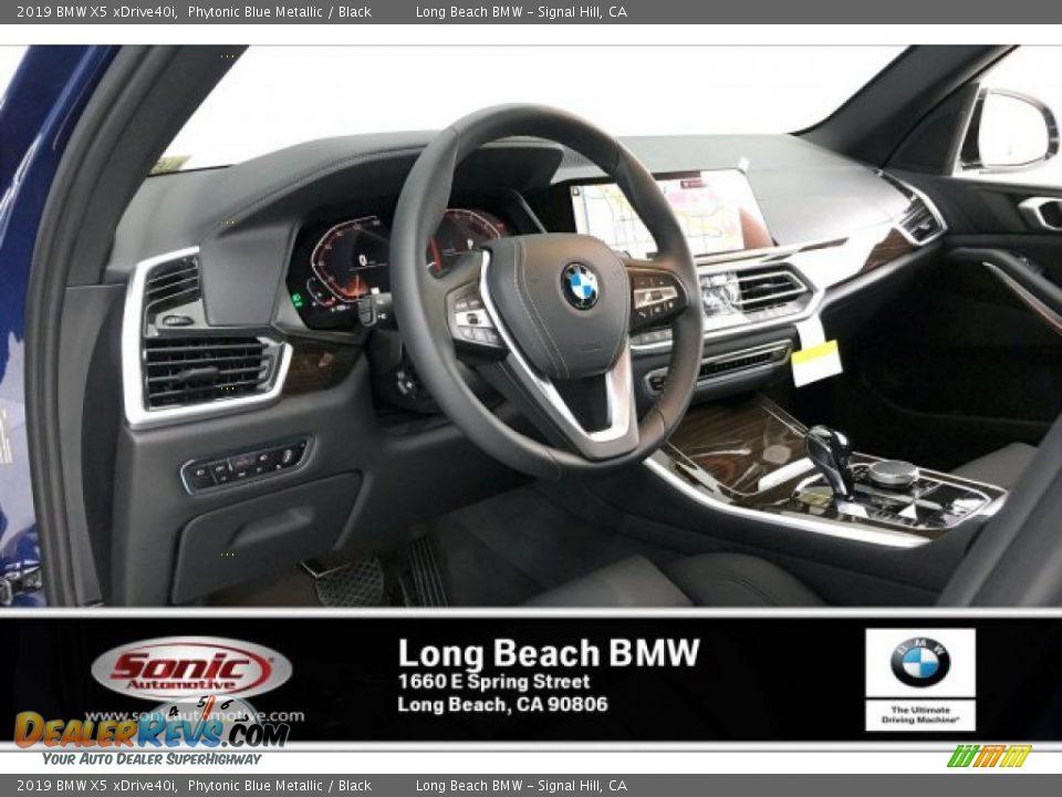 2019 BMW X5 xDrive40i Phytonic Blue Metallic / Black Photo #4