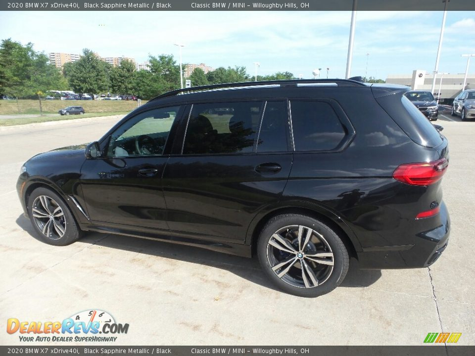 Black Sapphire Metallic 2020 BMW X7 xDrive40i Photo #5