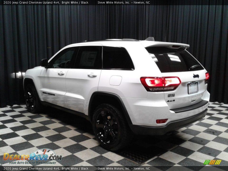 2020 Jeep Grand Cherokee Upland 4x4 Bright White / Black Photo #8
