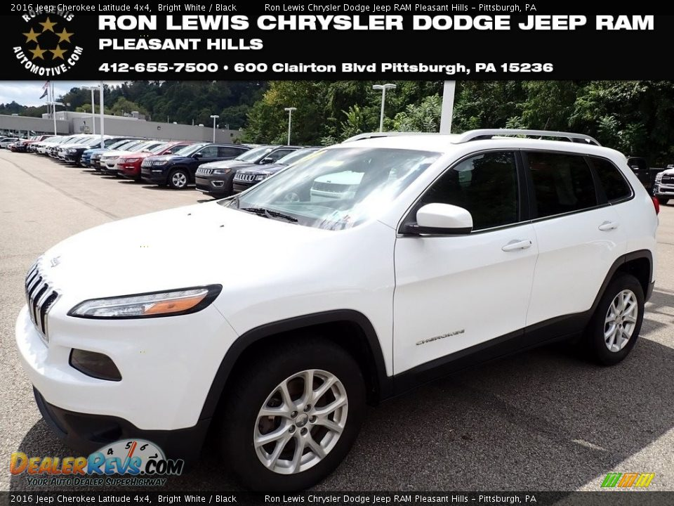 2016 Jeep Cherokee Latitude 4x4 Bright White / Black Photo #1