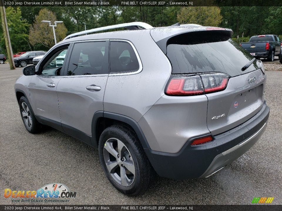2020 Jeep Cherokee Limited 4x4 Billet Silver Metallic / Black Photo #4