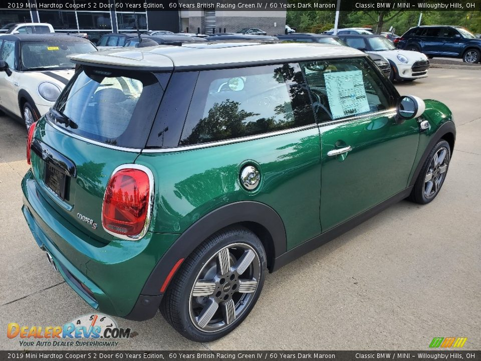 2019 Mini Hardtop Cooper S 2 Door 60 Years Edition 60 Years British Racing Green IV / 60 Years Dark Maroon Photo #2