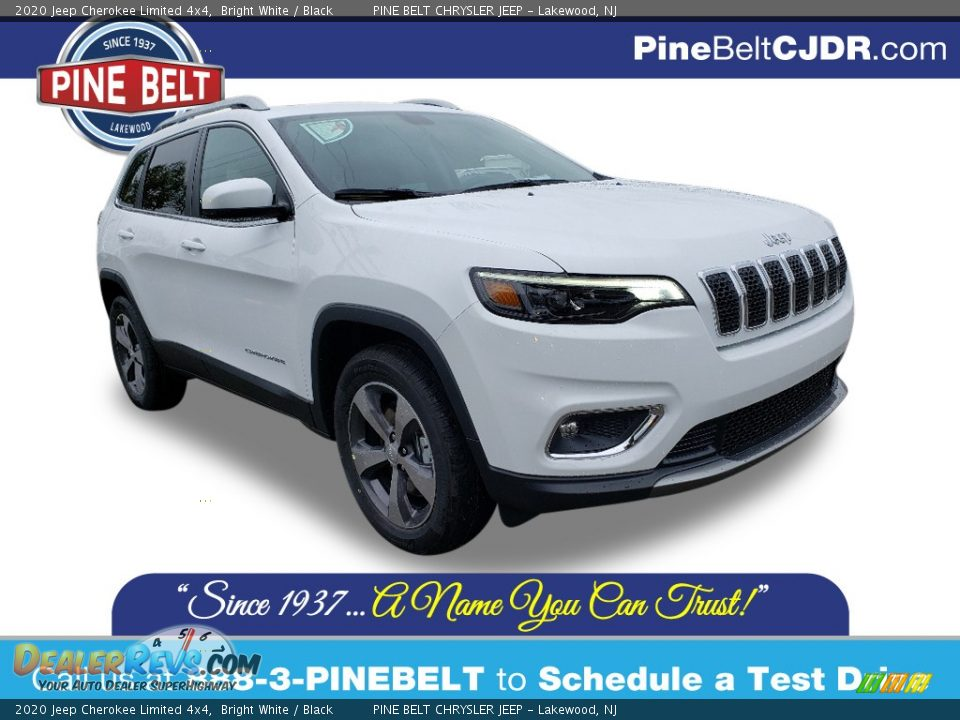 2020 Jeep Cherokee Limited 4x4 Bright White / Black Photo #1