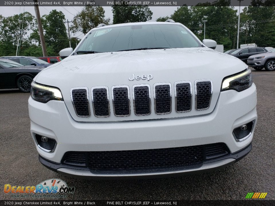2020 Jeep Cherokee Limited 4x4 Bright White / Black Photo #2