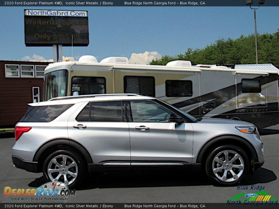 2020 Ford Explorer Platinum 4WD Iconic Silver Metallic / Ebony Photo #6