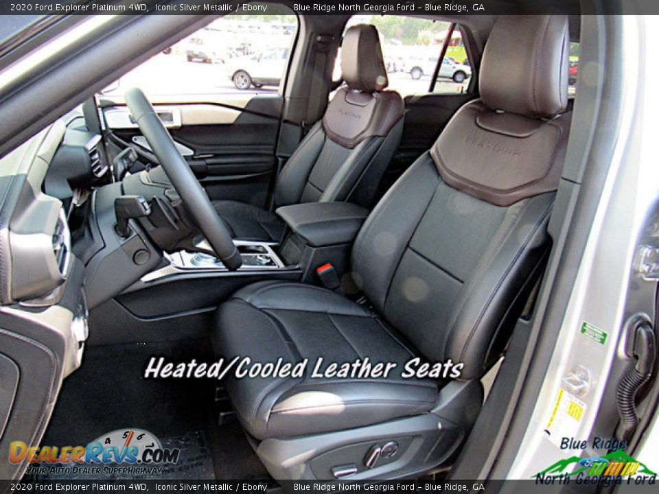 2020 Ford Explorer Platinum 4WD Iconic Silver Metallic / Ebony Photo #10