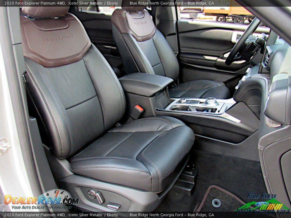 2020 Ford Explorer Platinum 4WD Iconic Silver Metallic / Ebony Photo #11