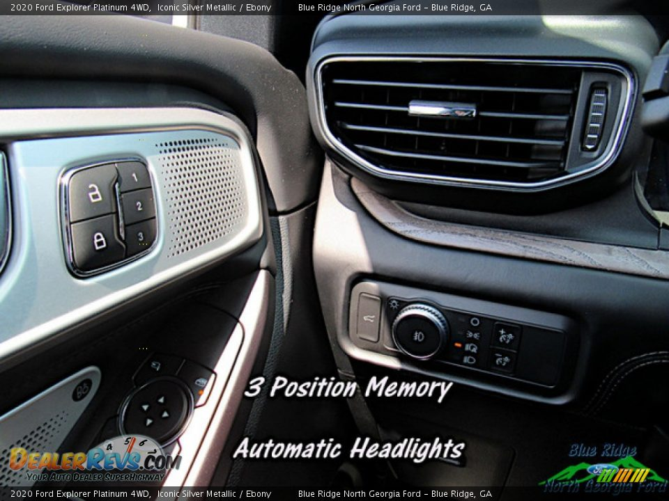 2020 Ford Explorer Platinum 4WD Iconic Silver Metallic / Ebony Photo #21