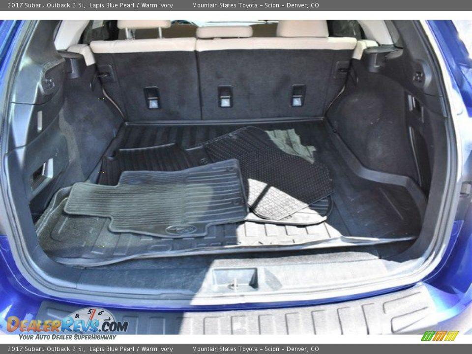 2017 Subaru Outback 2.5i Lapis Blue Pearl / Warm Ivory Photo #26