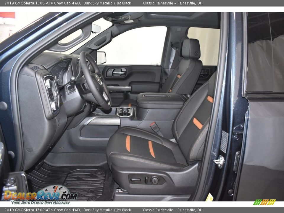 Front Seat of 2019 GMC Sierra 1500 AT4 Crew Cab 4WD Photo #7