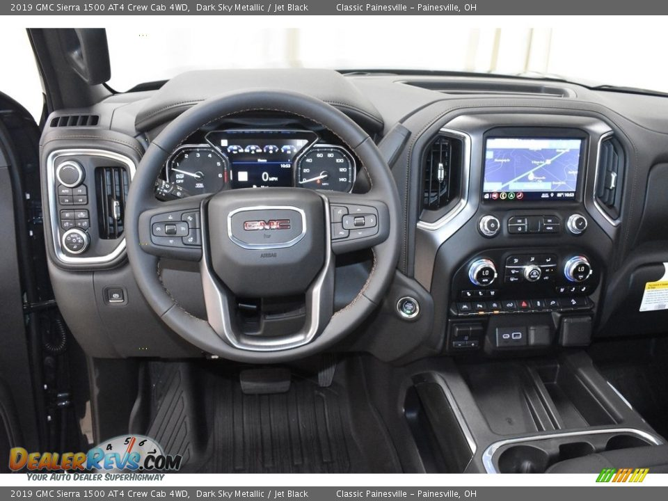 Dashboard of 2019 GMC Sierra 1500 AT4 Crew Cab 4WD Photo #9