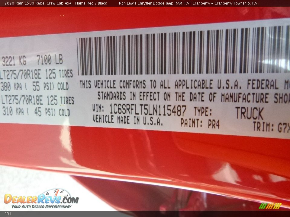 Ram Color Code PR4 Flame Red