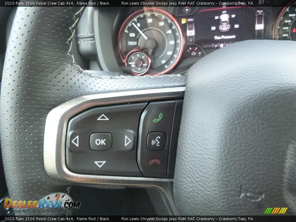 2020 Ram 1500 Rebel Crew Cab 4x4 Steering Wheel Photo #19