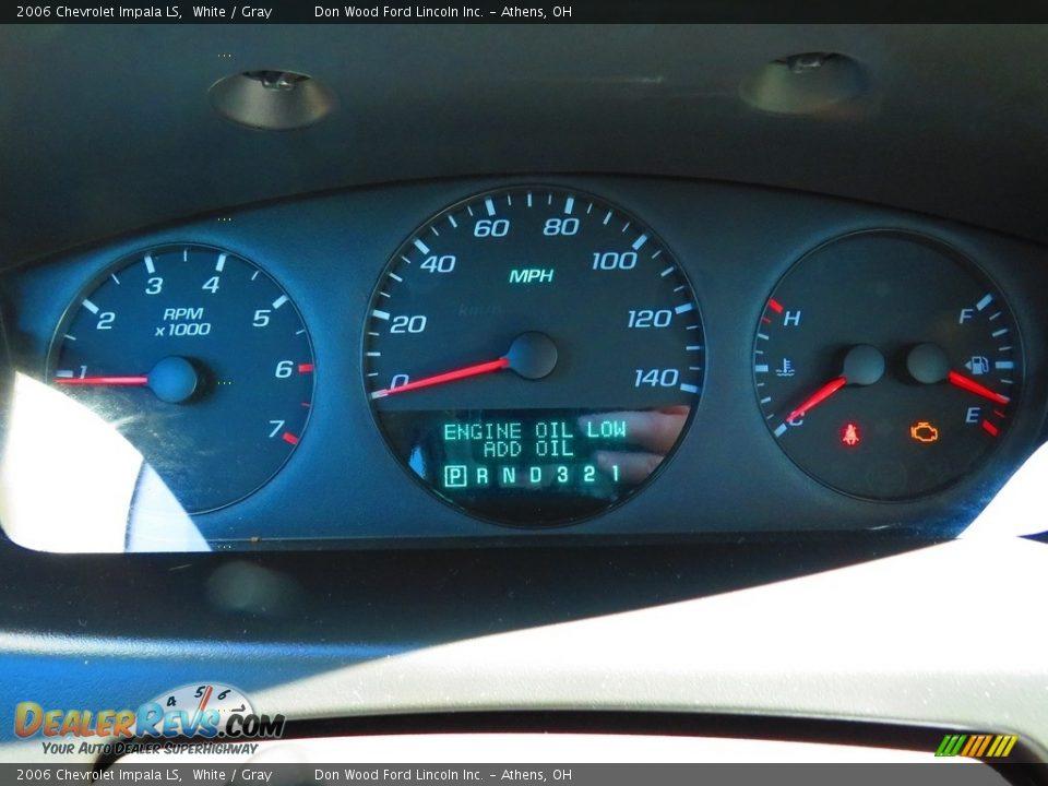 2006 Chevrolet Impala LS White / Gray Photo #27