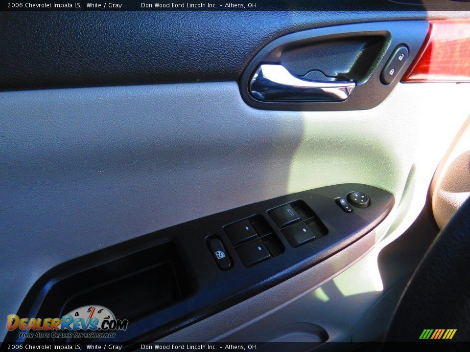 2006 Chevrolet Impala LS White / Gray Photo #33