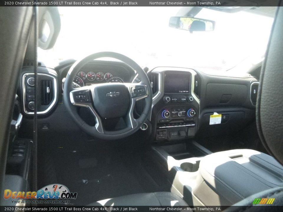 Jet Black Interior - 2020 Chevrolet Silverado 1500 LT Trail Boss Crew Cab 4x4 Photo #12