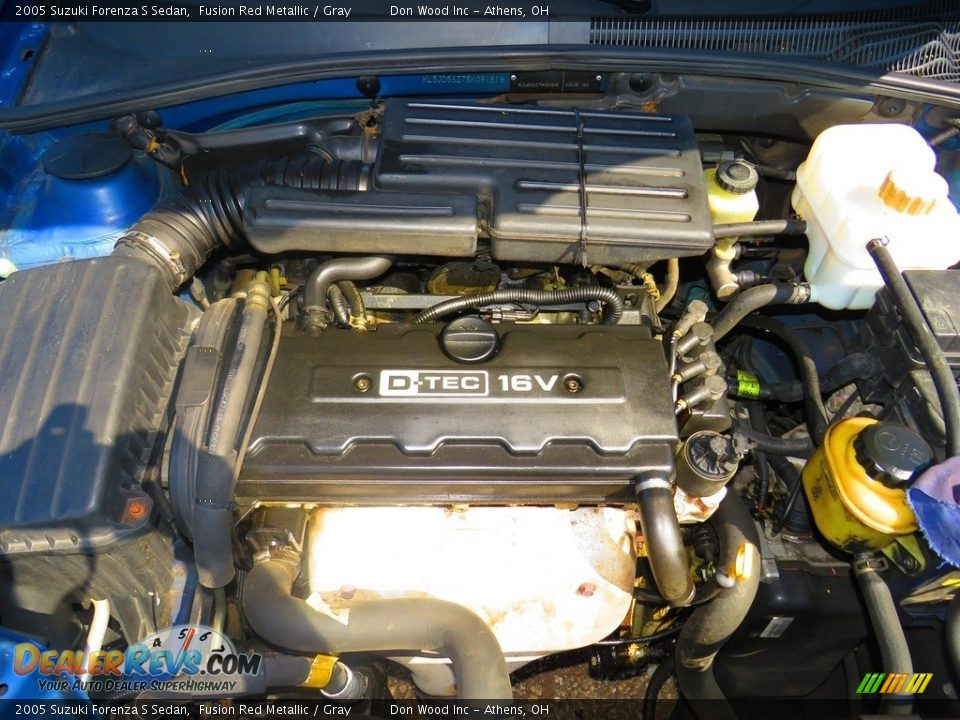 2005 Suzuki Forenza S Sedan Fusion Red Metallic / Gray Photo #11