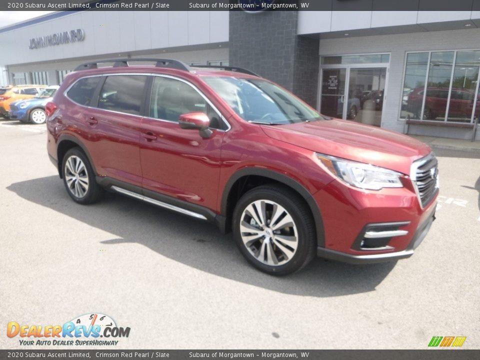 2020 Subaru Ascent Limited Crimson Red Pearl / Slate Photo #1