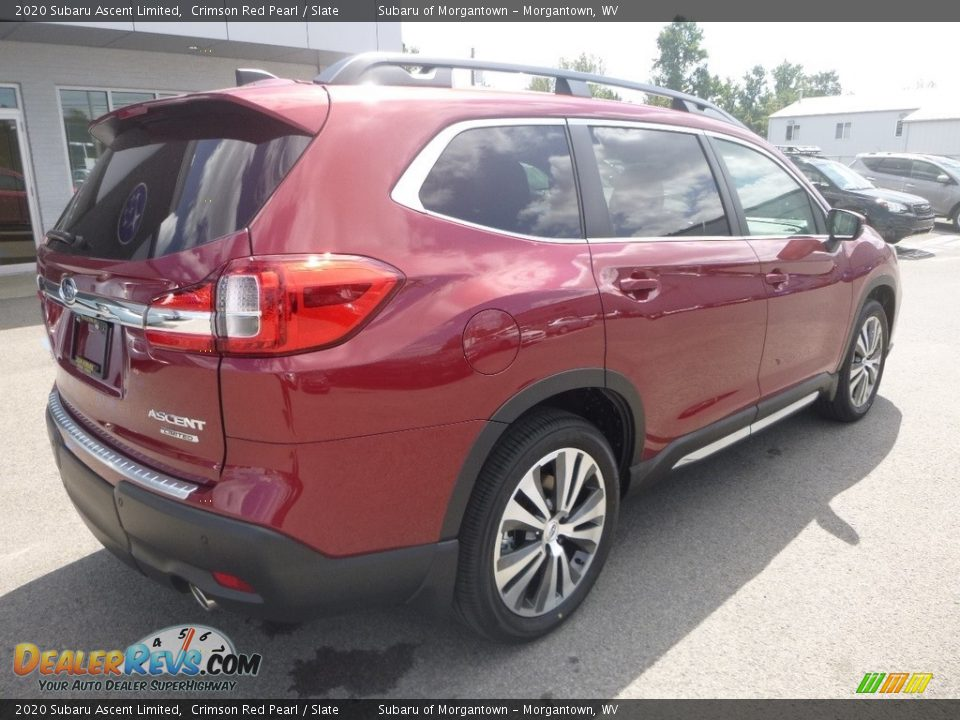 2020 Subaru Ascent Limited Crimson Red Pearl / Slate Photo #4