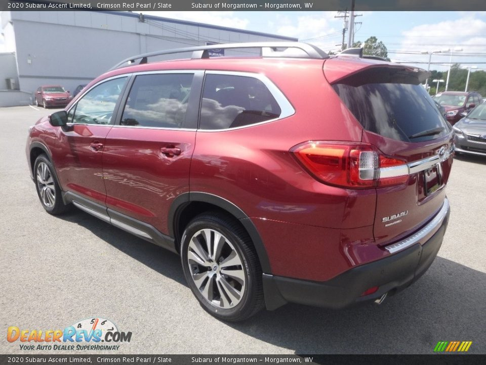 2020 Subaru Ascent Limited Crimson Red Pearl / Slate Photo #6