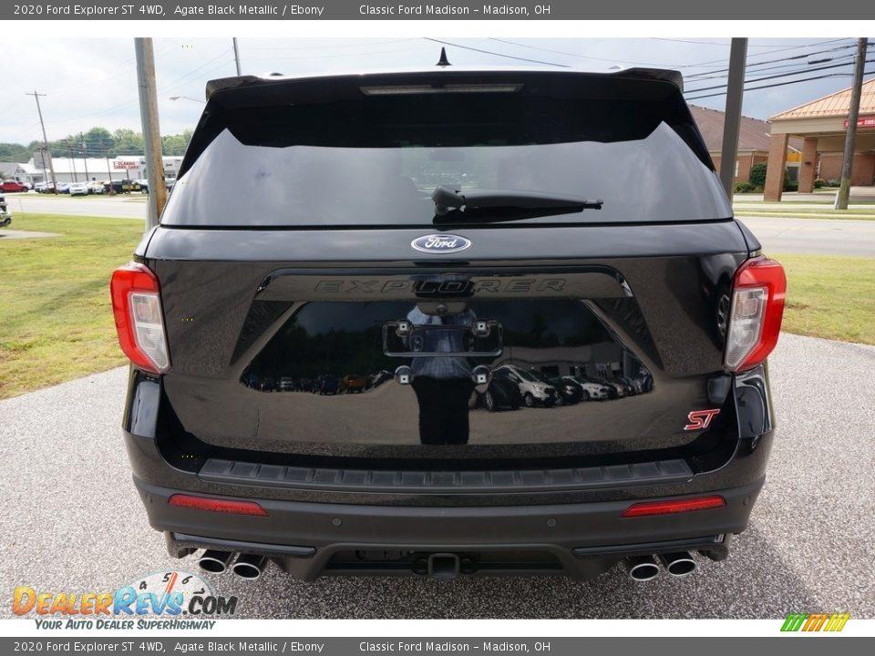 2020 Ford Explorer ST 4WD Agate Black Metallic / Ebony Photo #3