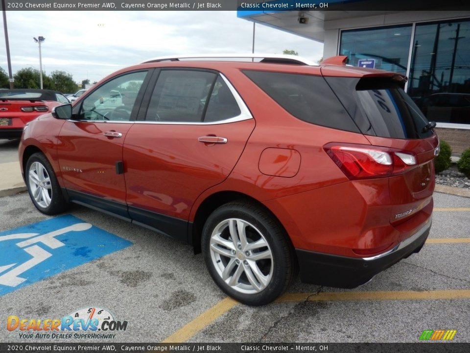 2020 Chevrolet Equinox Premier AWD Cayenne Orange Metallic / Jet Black Photo #5