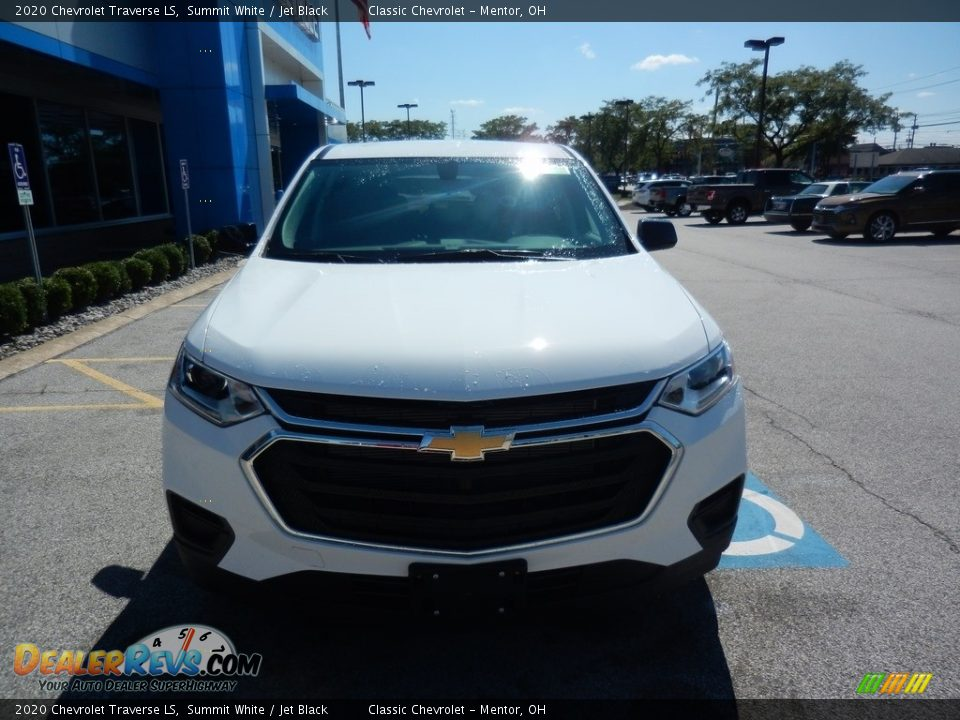 2020 Chevrolet Traverse LS Summit White / Jet Black Photo #2