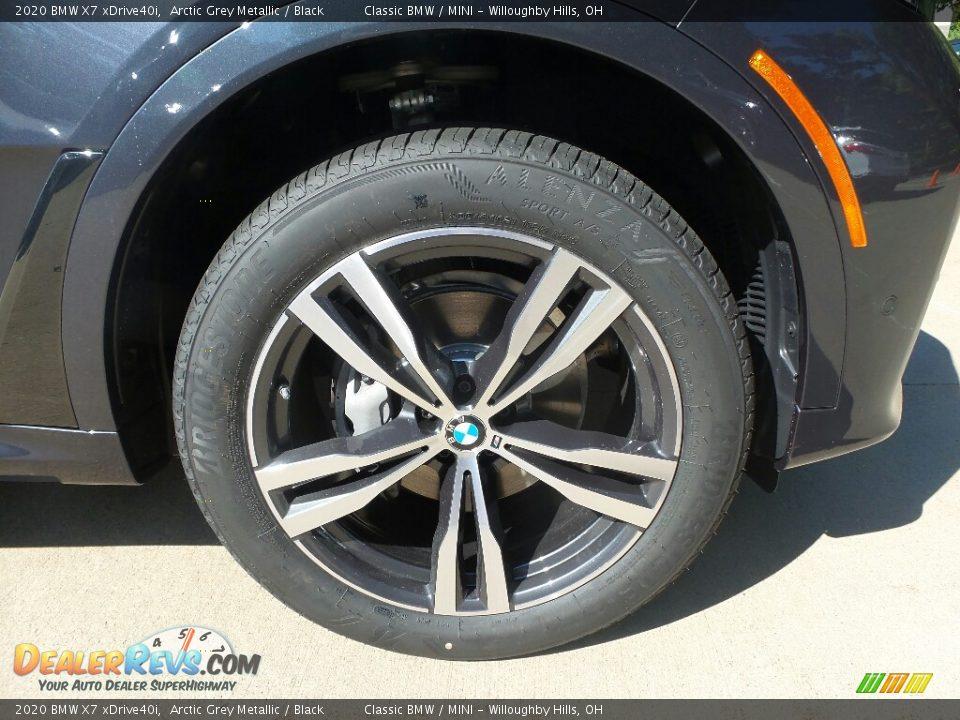 2020 BMW X7 xDrive40i Arctic Grey Metallic / Black Photo #2