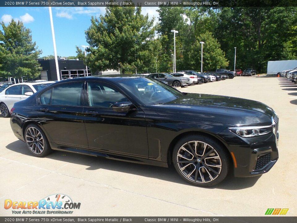 2020 BMW 7 Series 750i xDrive Sedan Black Sapphire Metallic / Black Photo #1