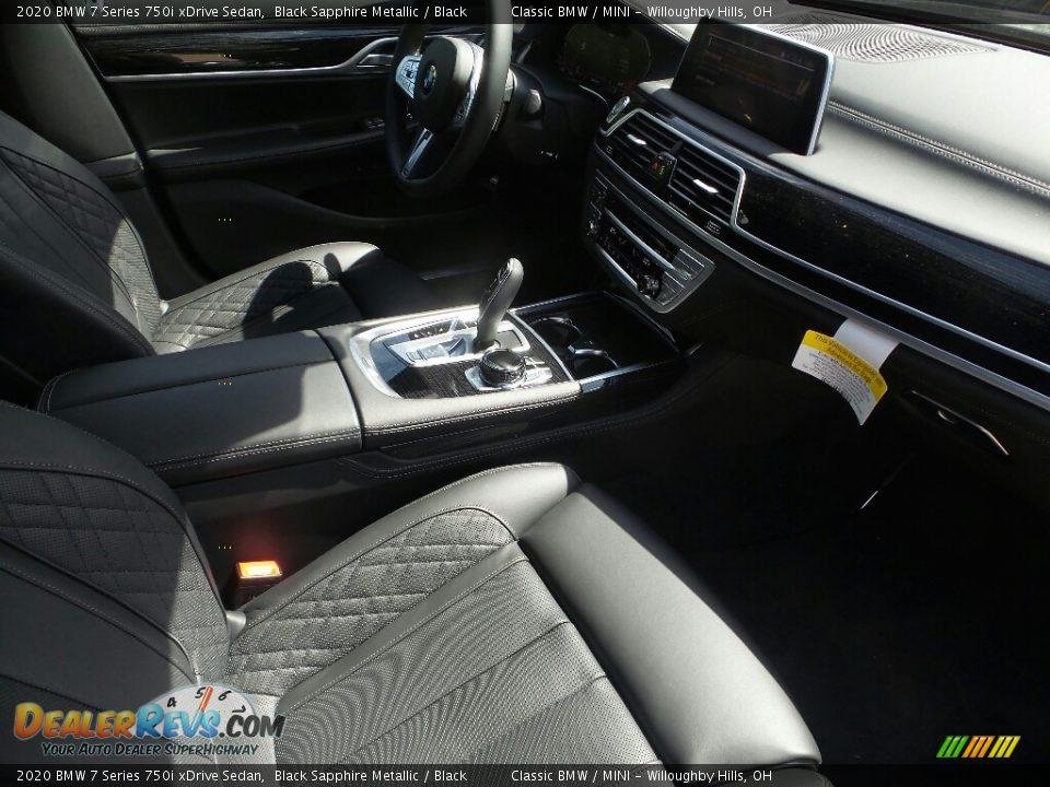 2020 BMW 7 Series 750i xDrive Sedan Black Sapphire Metallic / Black Photo #3