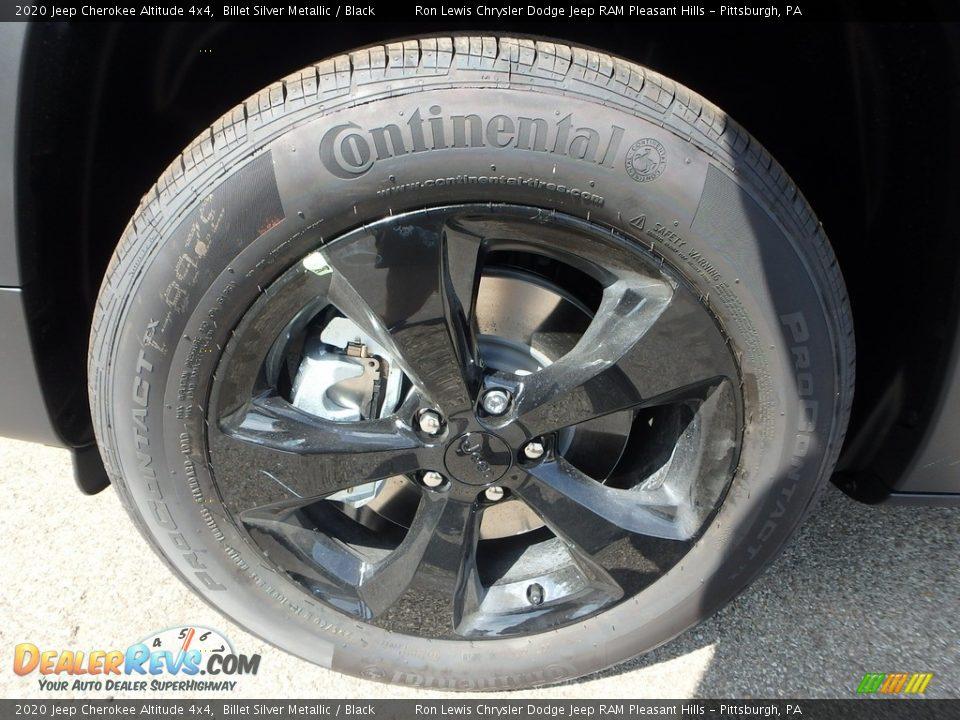 2020 Jeep Cherokee Altitude 4x4 Billet Silver Metallic / Black Photo #10