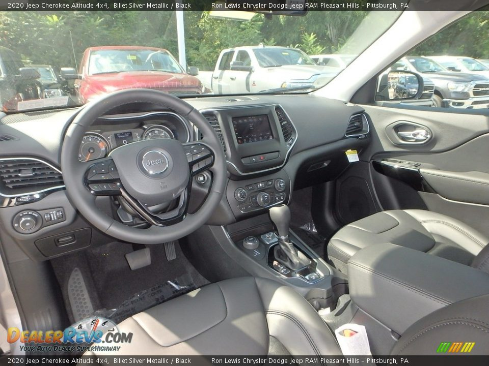 Black Interior - 2020 Jeep Cherokee Altitude 4x4 Photo #13