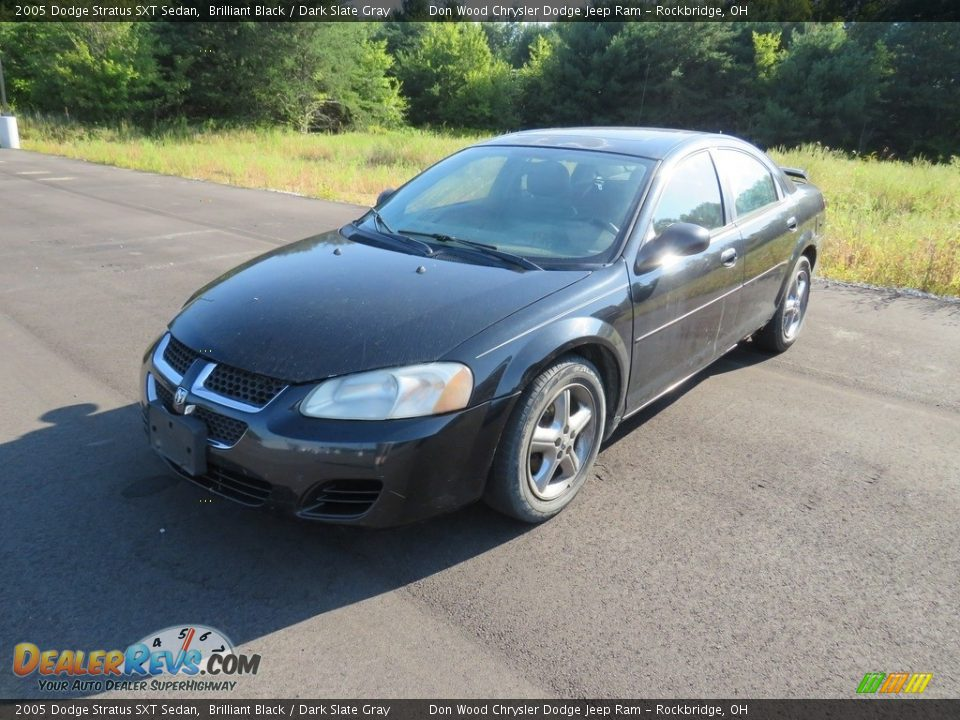 2005 Dodge Stratus SXT Sedan Brilliant Black / Dark Slate Gray Photo #2