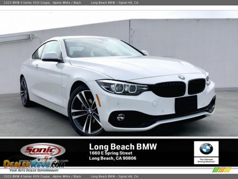 2020 BMW 4 Series 430i Coupe Alpine White / Black Photo #1