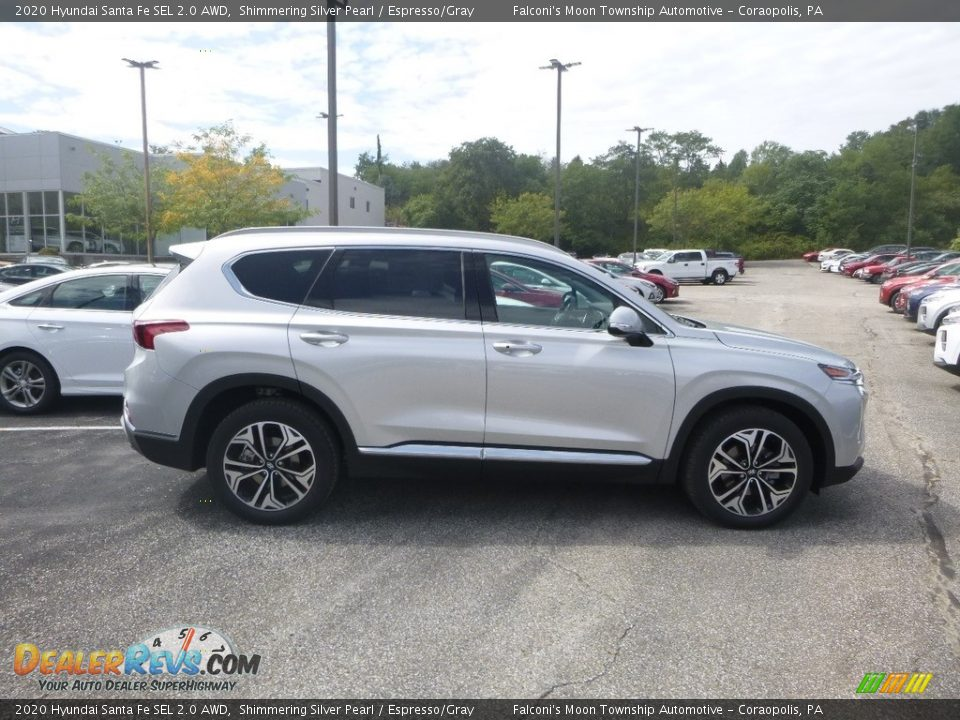 2020 Hyundai Santa Fe SEL 2.0 AWD Symphony Silver / Espresso/Gray Photo #1