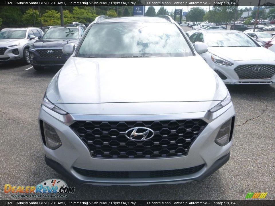 2020 Hyundai Santa Fe SEL 2.0 AWD Symphony Silver / Espresso/Gray Photo #4