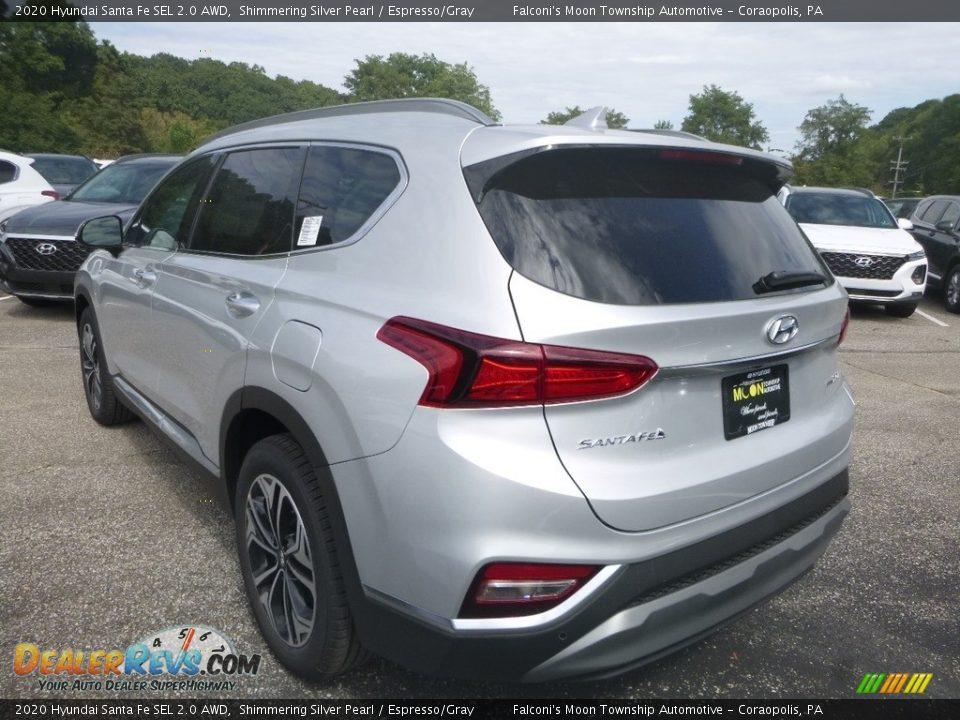 2020 Hyundai Santa Fe SEL 2.0 AWD Symphony Silver / Espresso/Gray Photo #6