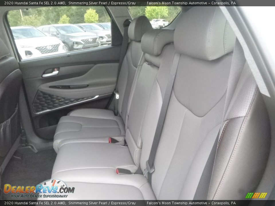Rear Seat of 2020 Hyundai Santa Fe SEL 2.0 AWD Photo #8