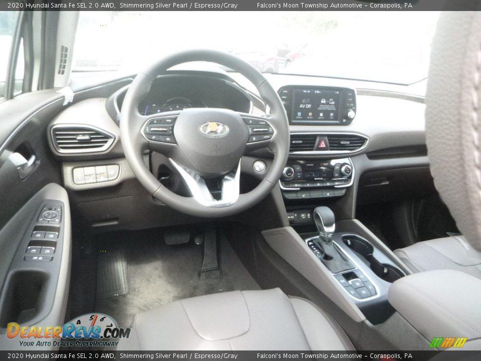 2020 Hyundai Santa Fe SEL 2.0 AWD Symphony Silver / Espresso/Gray Photo #9