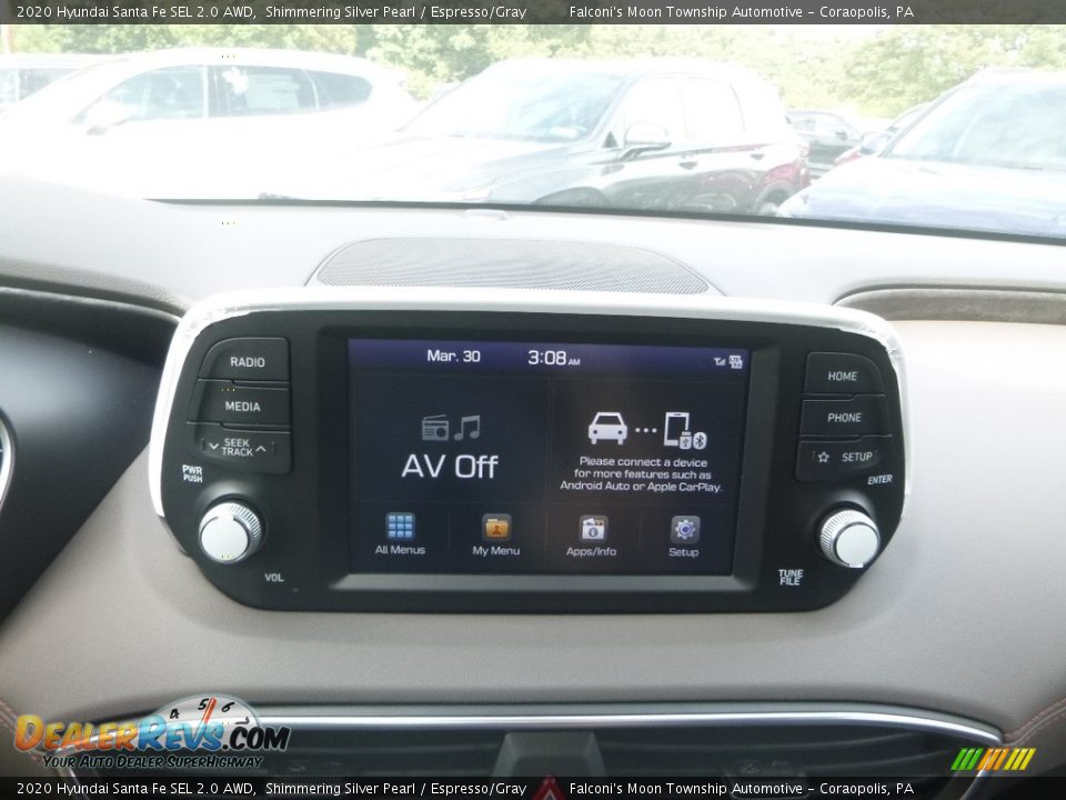 2020 Hyundai Santa Fe SEL 2.0 AWD Symphony Silver / Espresso/Gray Photo #13