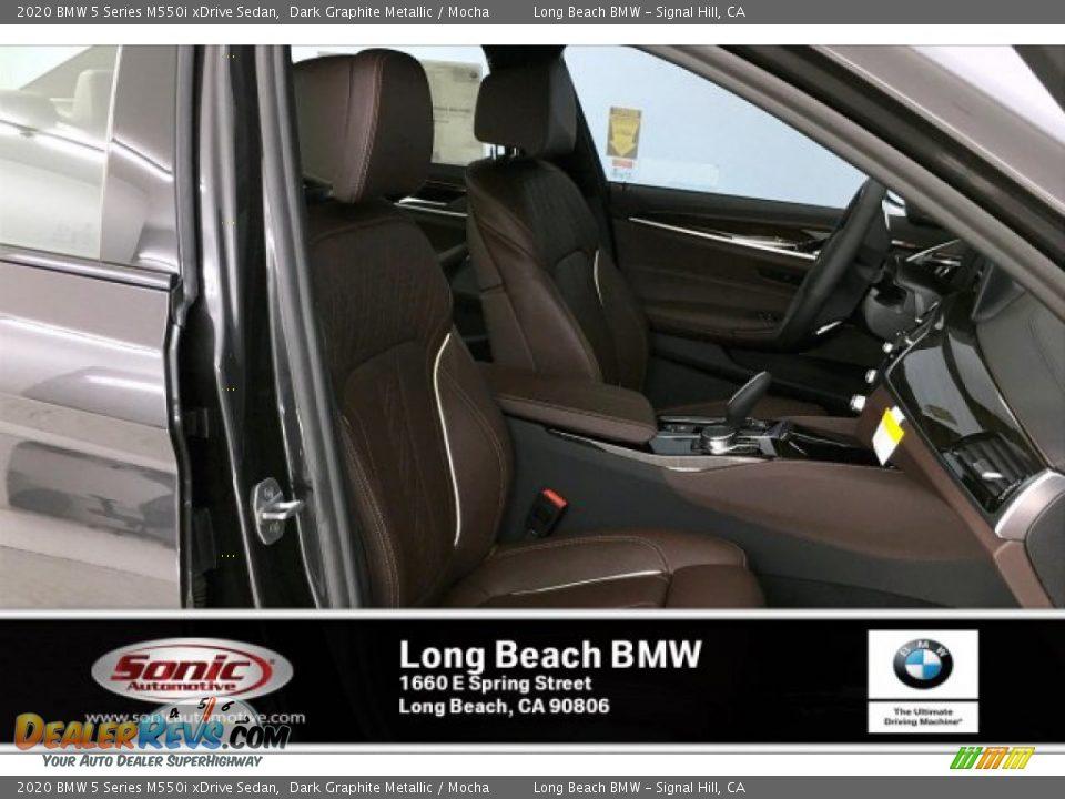 2020 BMW 5 Series M550i xDrive Sedan Dark Graphite Metallic / Mocha Photo #7