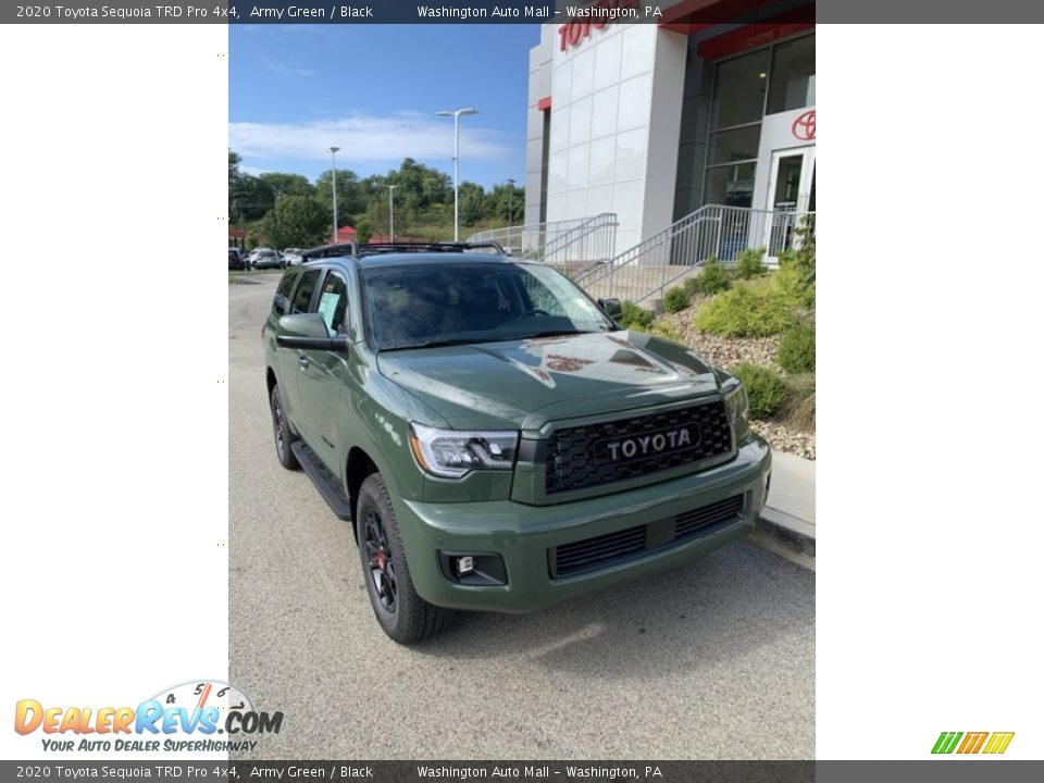 2020 Toyota Sequoia TRD Pro 4x4 Army Green / Black Photo #2
