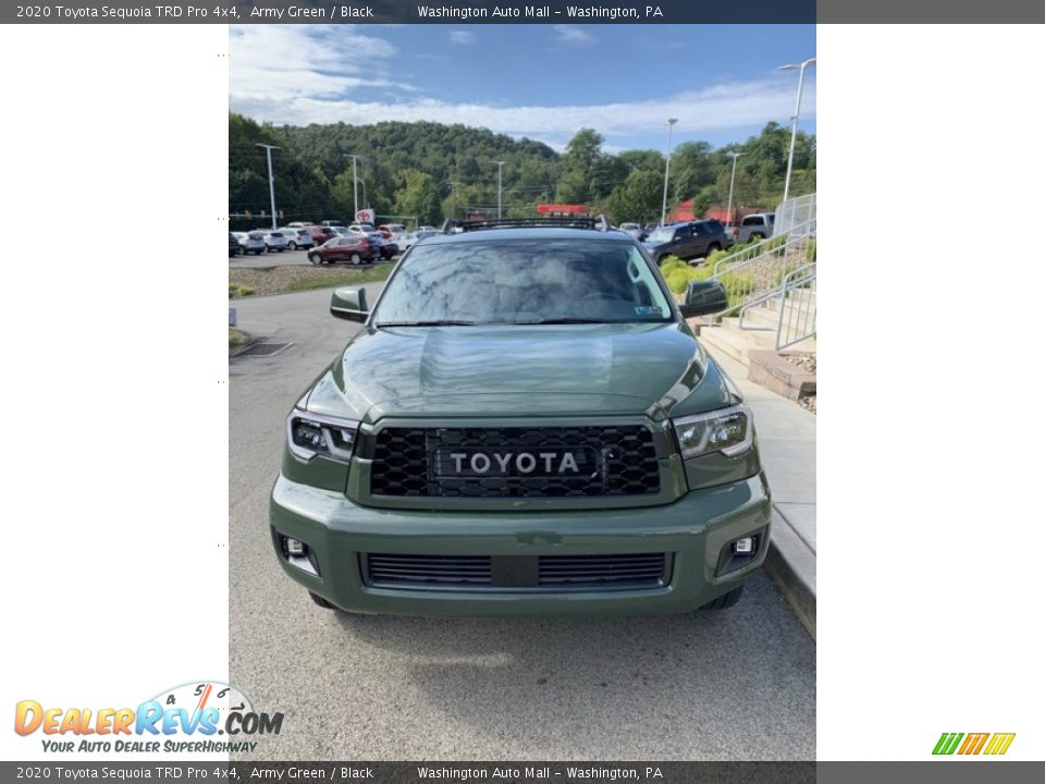 2020 Toyota Sequoia TRD Pro 4x4 Army Green / Black Photo #3