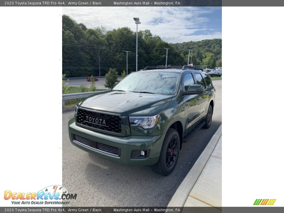2020 Toyota Sequoia TRD Pro 4x4 Army Green / Black Photo #4