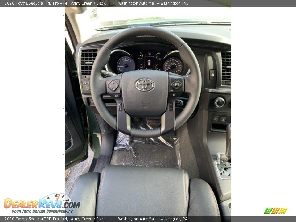 2020 Toyota Sequoia TRD Pro 4x4 Steering Wheel Photo #13