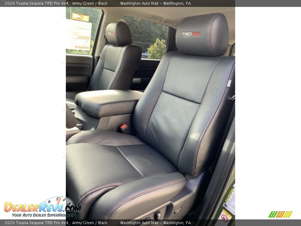 Front Seat of 2020 Toyota Sequoia TRD Pro 4x4 Photo #14
