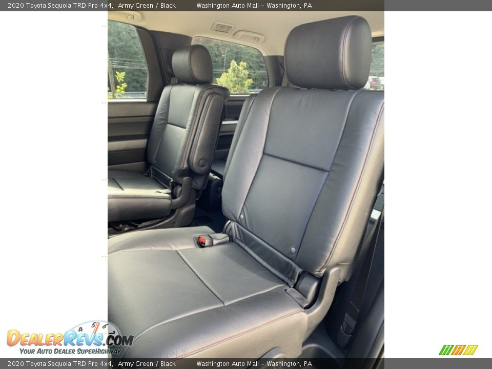 Rear Seat of 2020 Toyota Sequoia TRD Pro 4x4 Photo #19