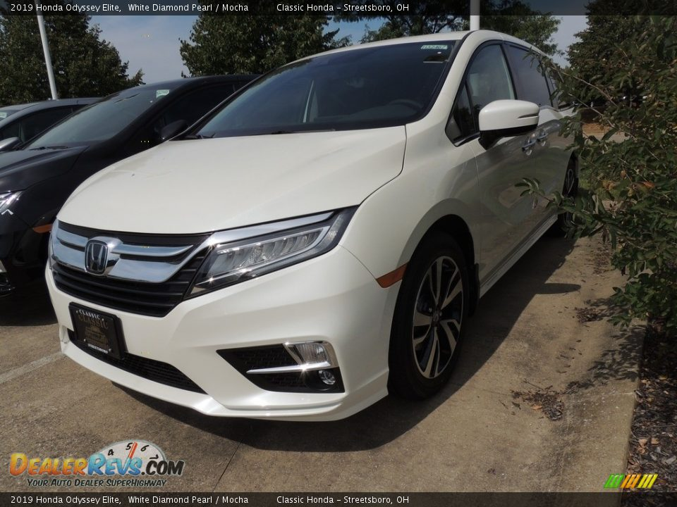 2019 Honda Odyssey Elite White Diamond Pearl / Mocha Photo #1