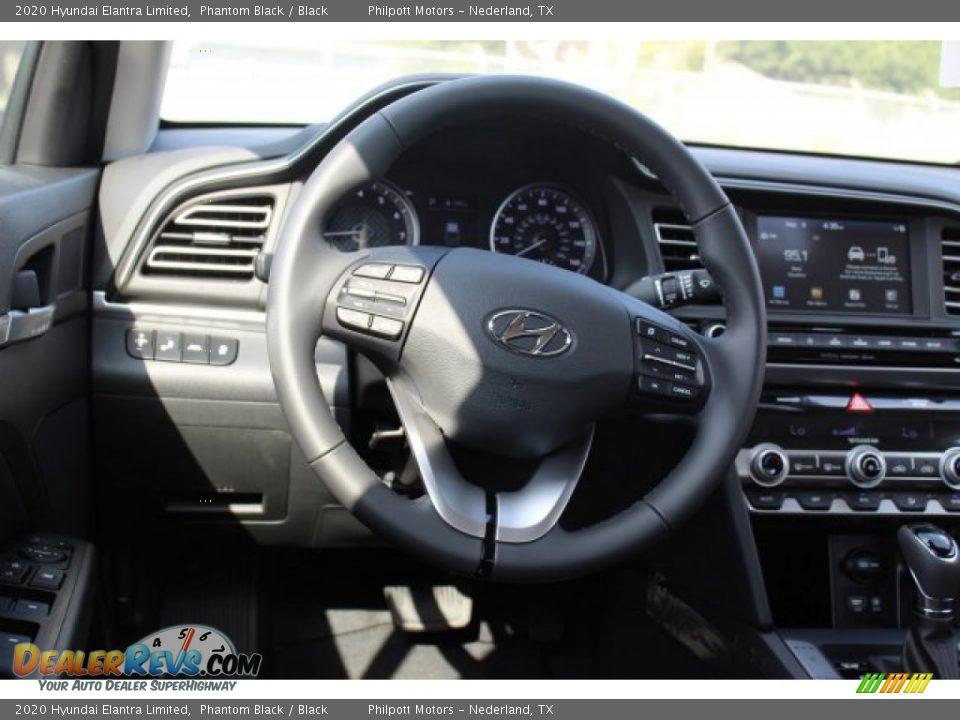 2020 Hyundai Elantra Limited Phantom Black / Black Photo #18